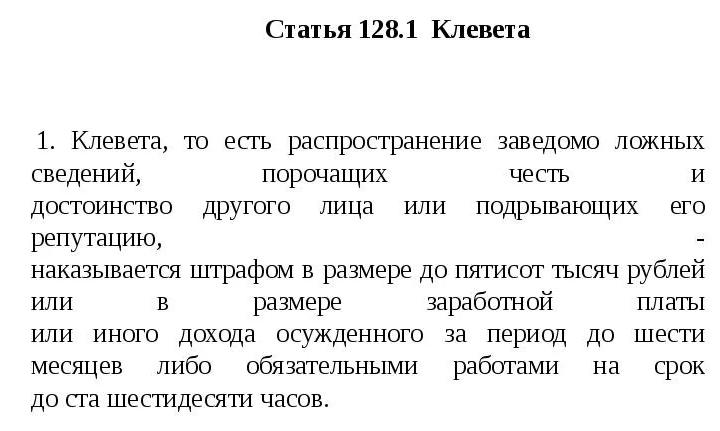 ст. 128.1